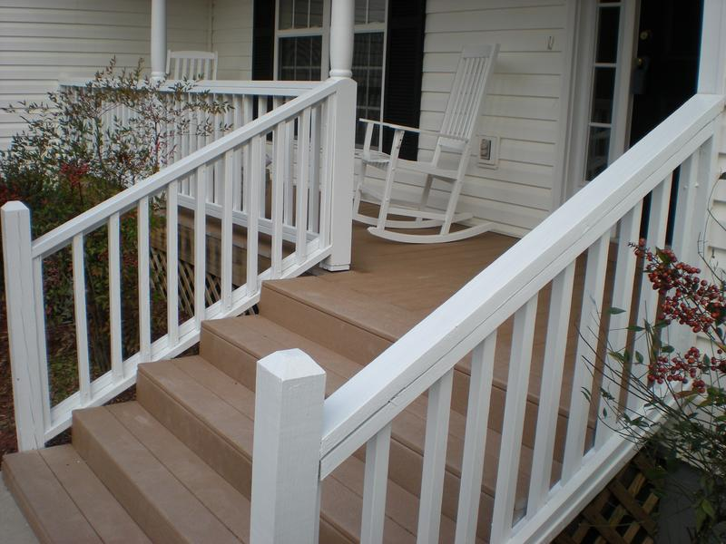 Deck staining and painting project in Augusta, Georgia.