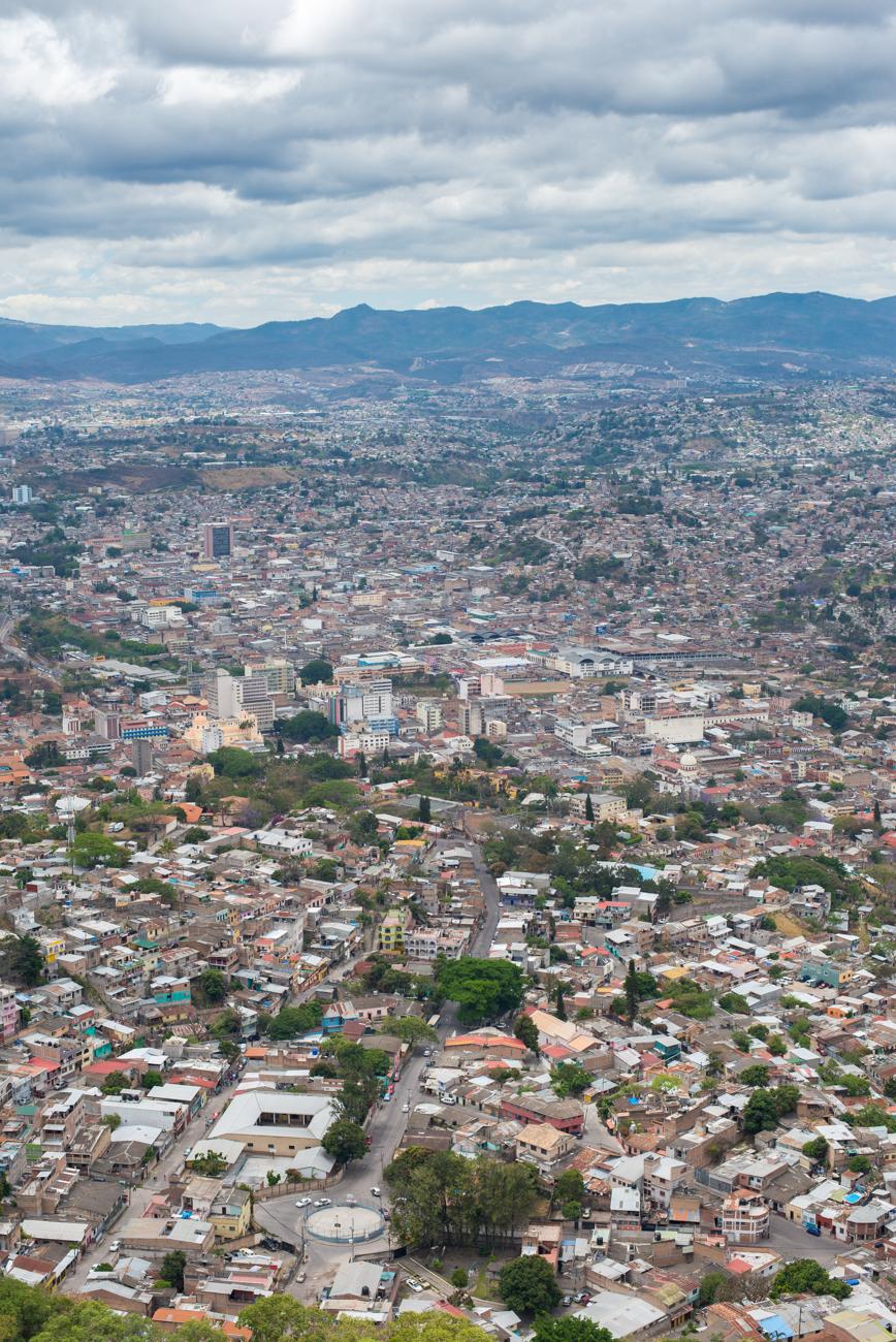 Tegucigalpa, the capital of Honduras.