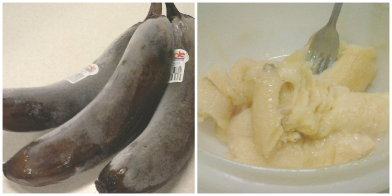 Don't let outward appearance fool you! These bananas are still delicious!