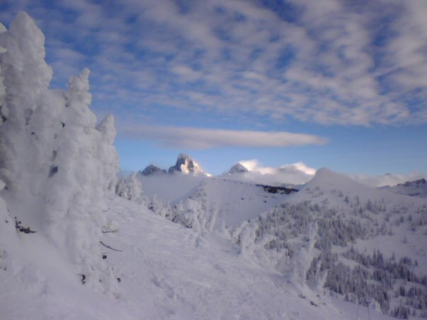 A view of The Grand Teton taken on my flip phone from Grand Targhee Resort circa 2009.