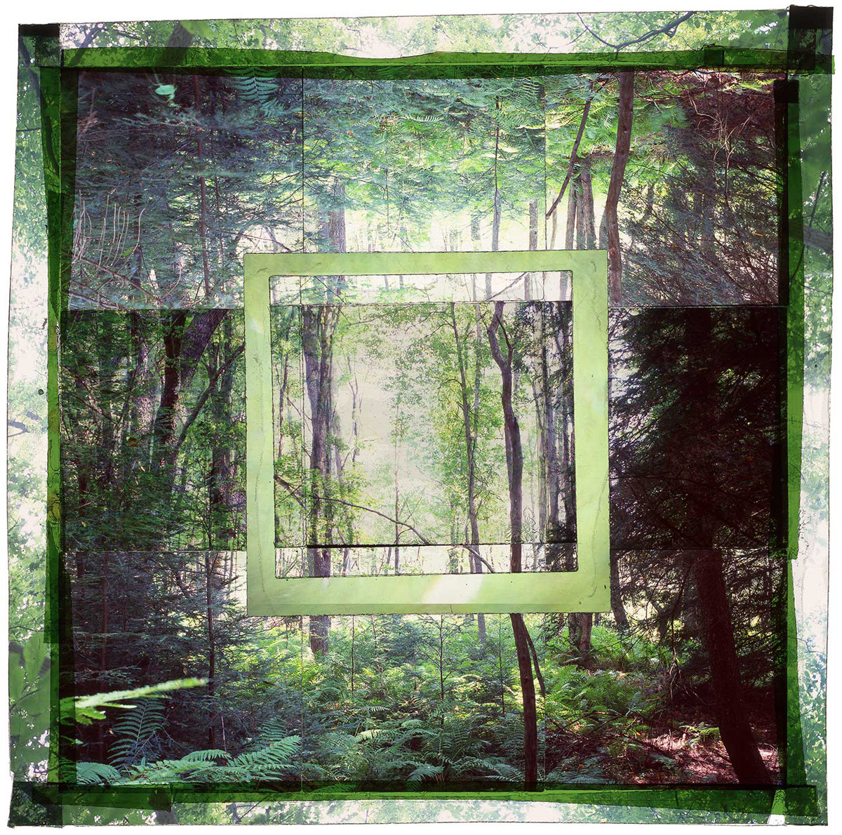 """GARRETT SP, 1 • 24""""x 24"""" • GICLEE PRINT FROM TRANSPARENCY FILM COMPOSITION"""