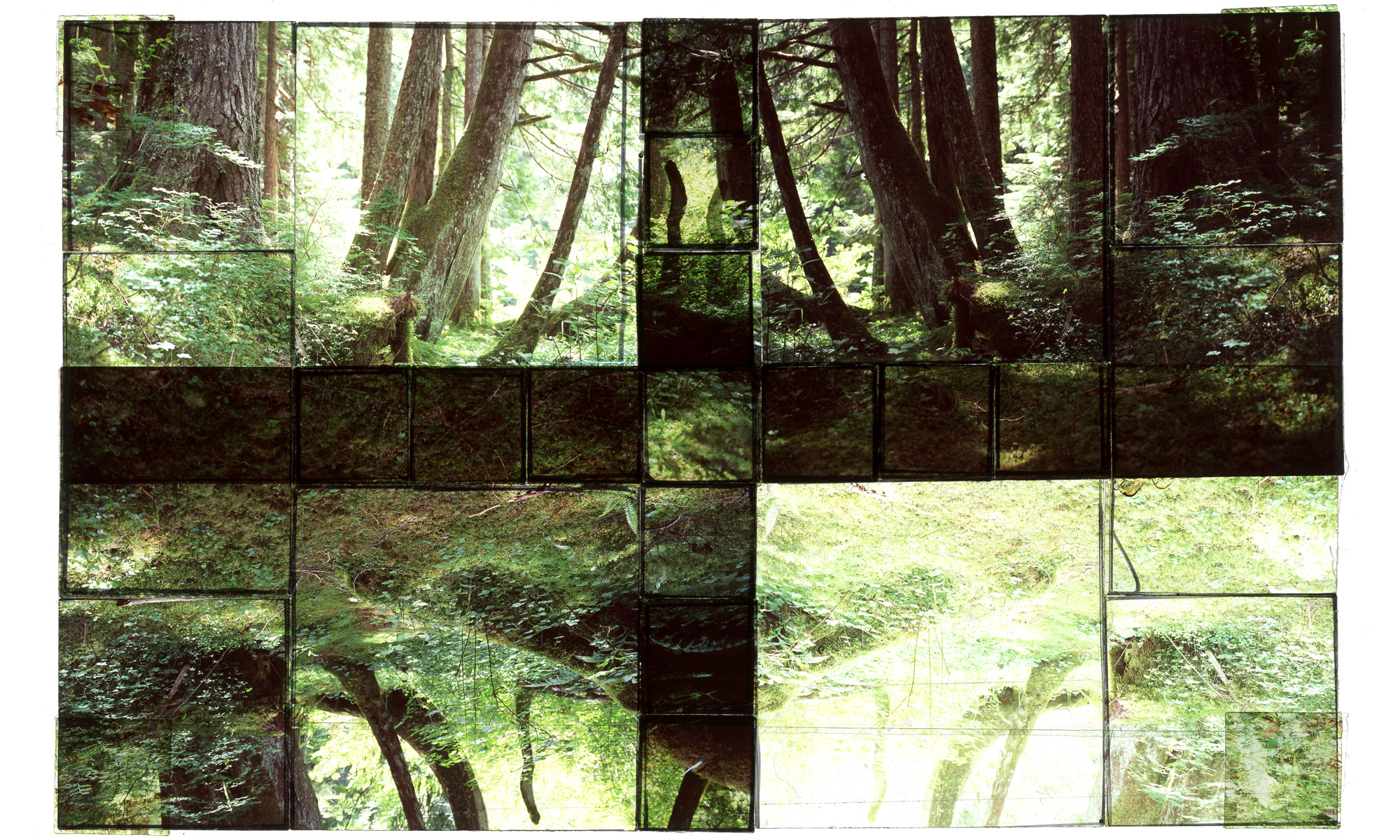"""GREEN LAKE, MT. RAINIER NP, 1 • 30""""x 20"""" • GICLEE PRINT FROM TRANSPARENCY FILM COMPOSITION"""