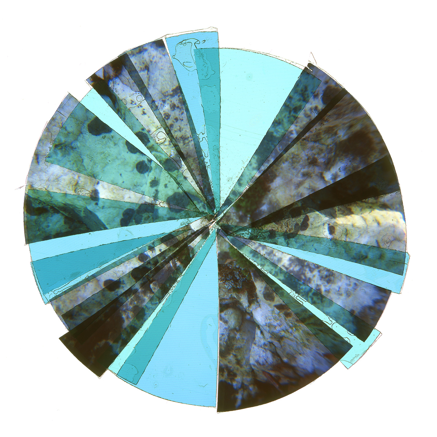 """RADIANCE 10 •  TWO EDITIONS: 36""""x36"""" & 45""""x45"""""""" • TRANSPARENCY FILM COMPOSITION"""