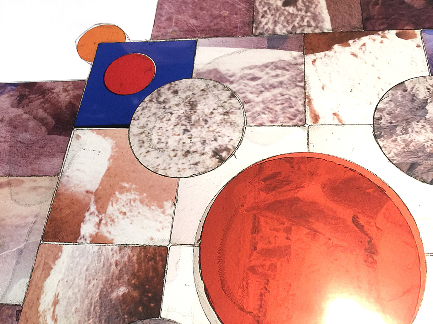 "Detail, Joya de la Tierra  , Transparency film printed at 30""x30"", archival pigment on fuji metallic"