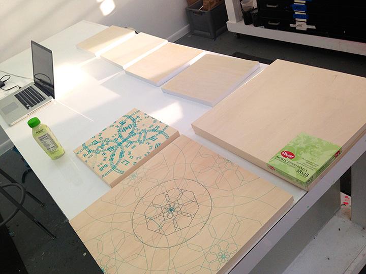 Printing on wood panels
