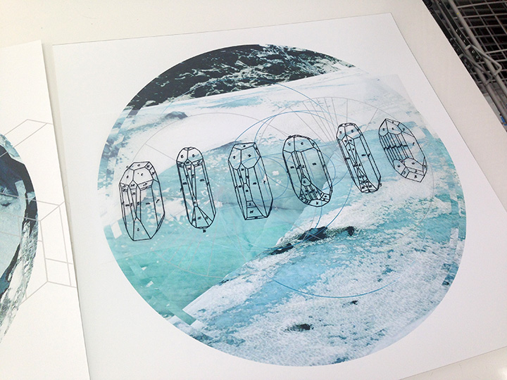 Geometric designs to be printed on photo prints.