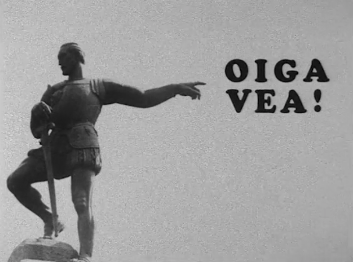 Title card from the 1971 film Oiga Vea!