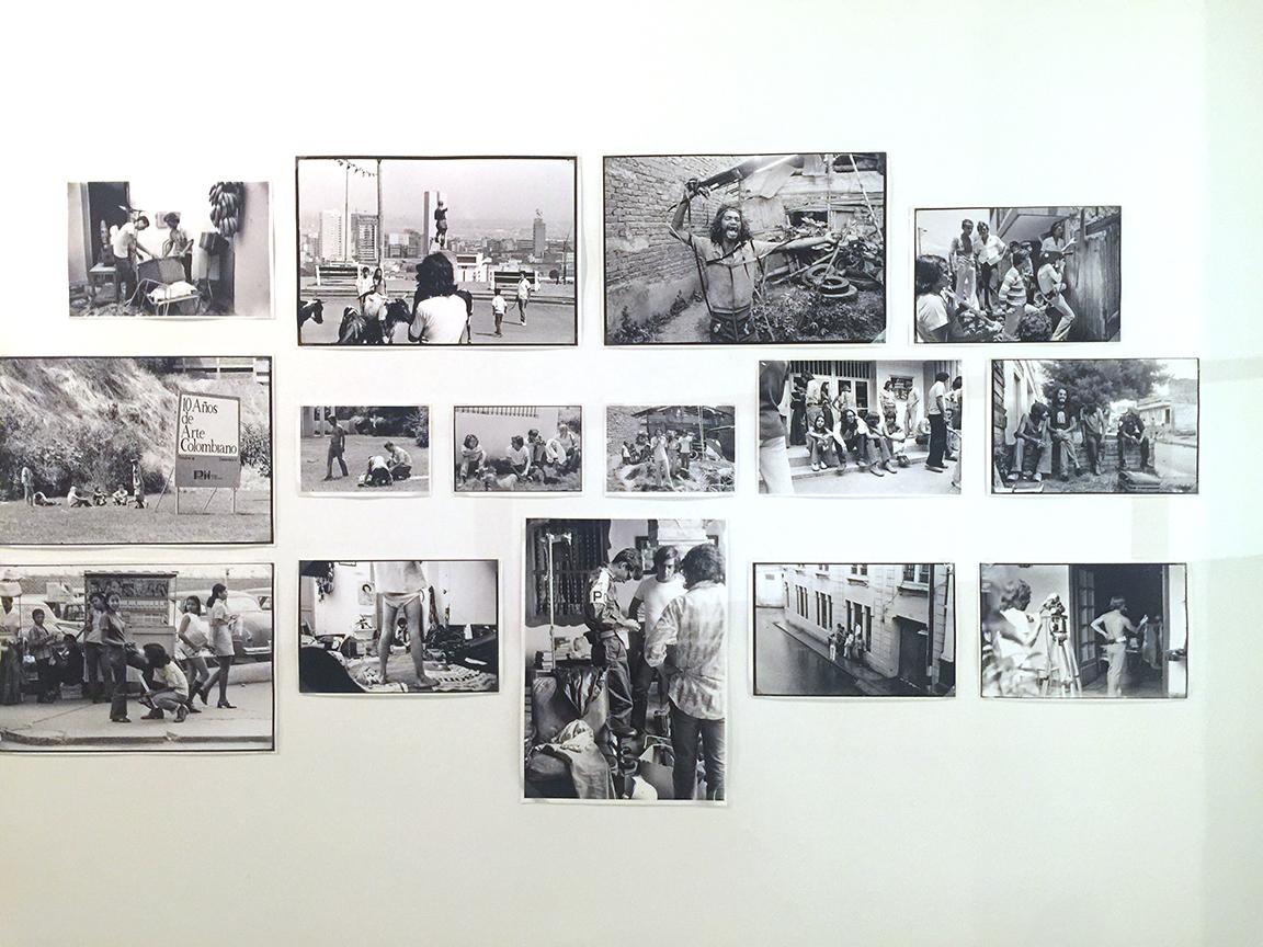 Film stills from behind the scenes at various Grupo de Cali sets