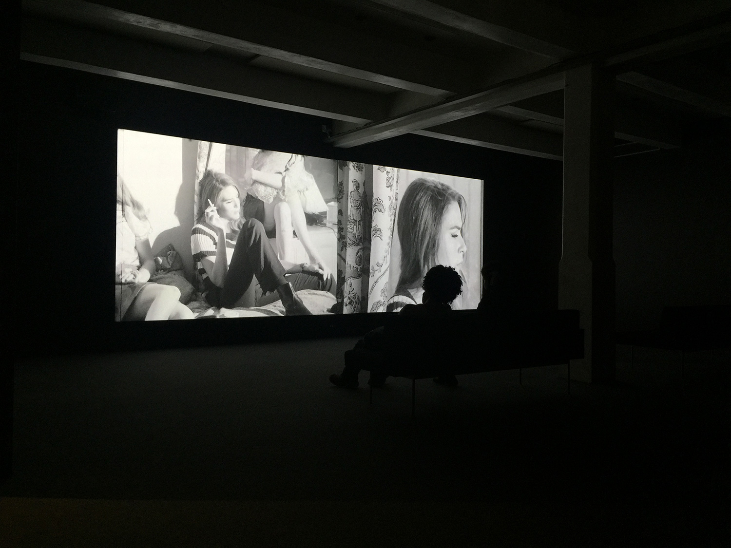 """Chelsea Girls"" screening as intended, two reels of film playing on two screens, side-by-side. The film is unavailable for purchase and currently you can only watch it at the Warhol Museum."