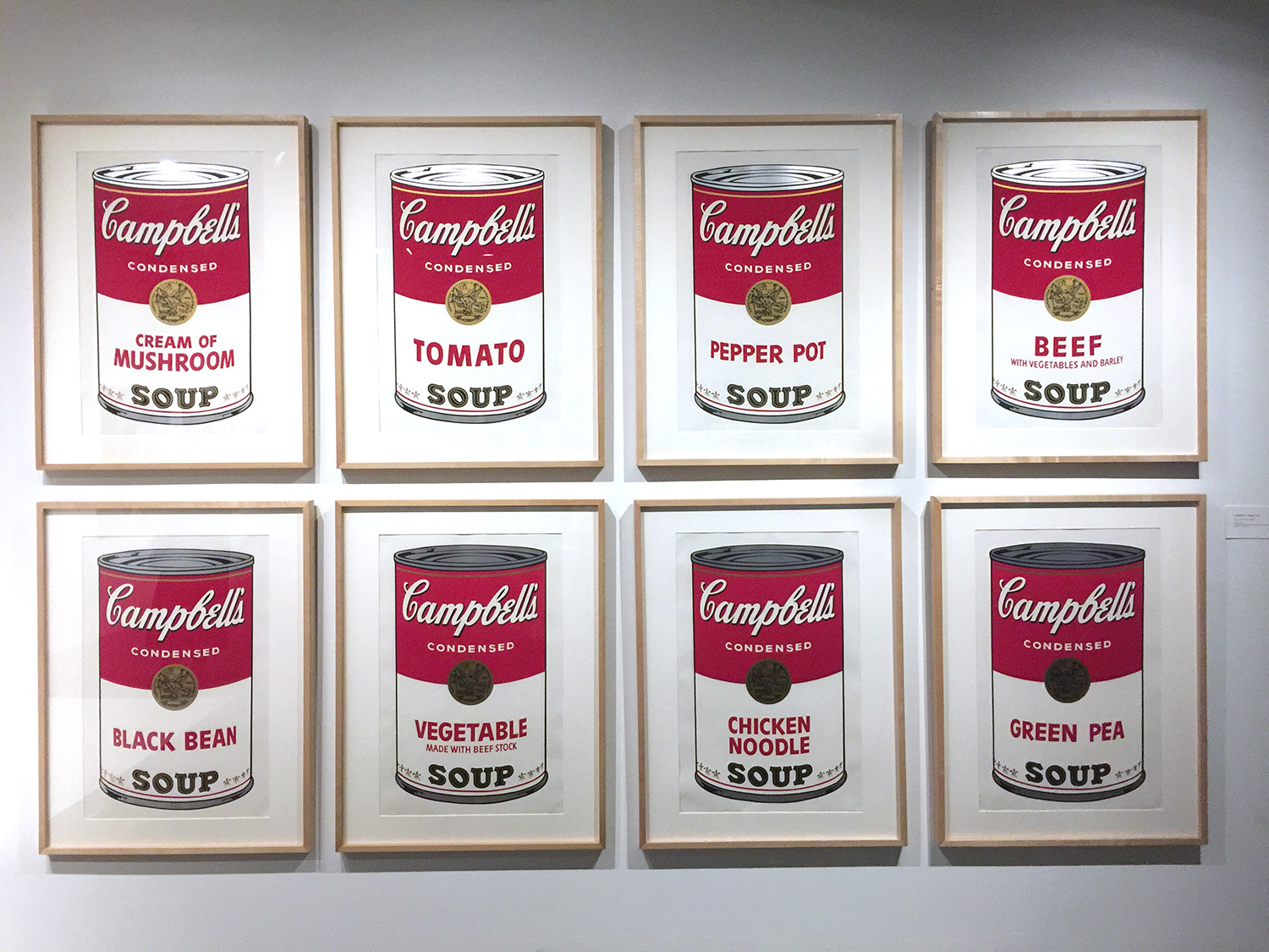 Part of the   32 Campbells Soup Cans series  , 1961-62, Andy Warhol.
