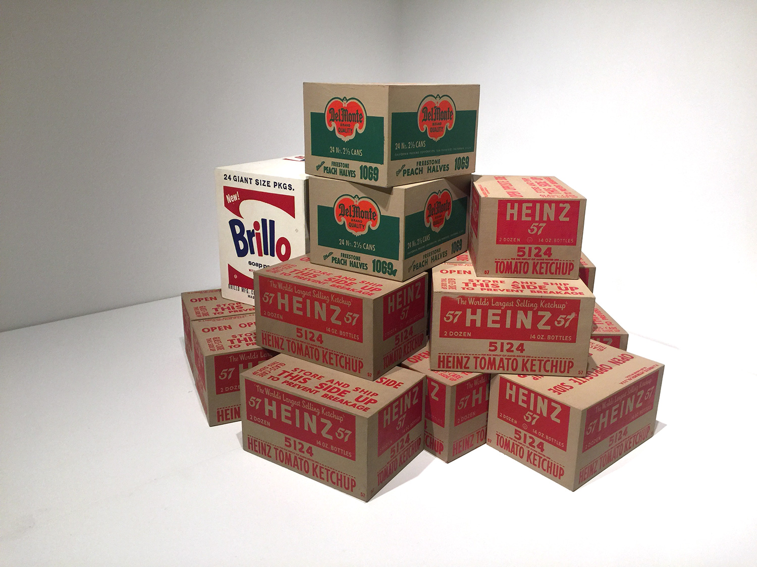 Part of the   Brillo Boxes and Heinz Boxes  , 1961-62, Andy Warhol.