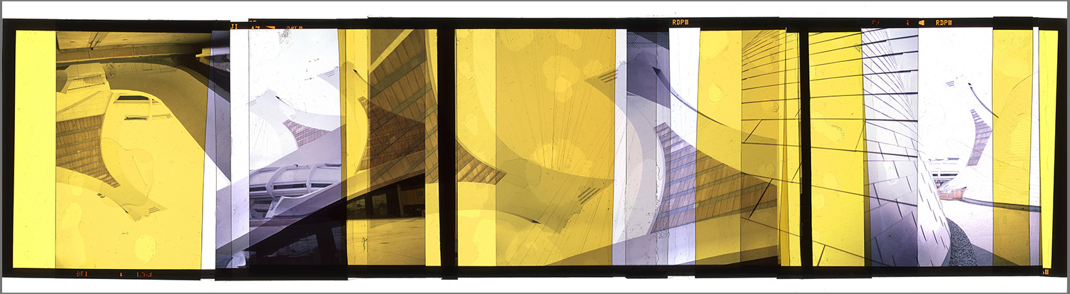 "MONTREAL RETROFUTURISM 1 [MURAL STUDY],   TRANSPARENCY FILM PRINT - 72""x 262"" [SIZE VARIABLE] - 2015"