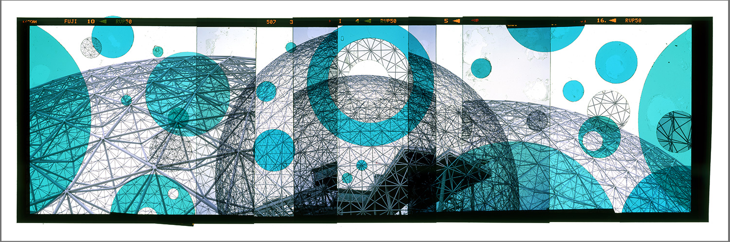 "MONTREAL RETROFUTURISM 2 [MURAL STUDY],   TRANSPARENCY FILM PRINT - 72""x 216"" [SIZE VARIABLE] - 2015"