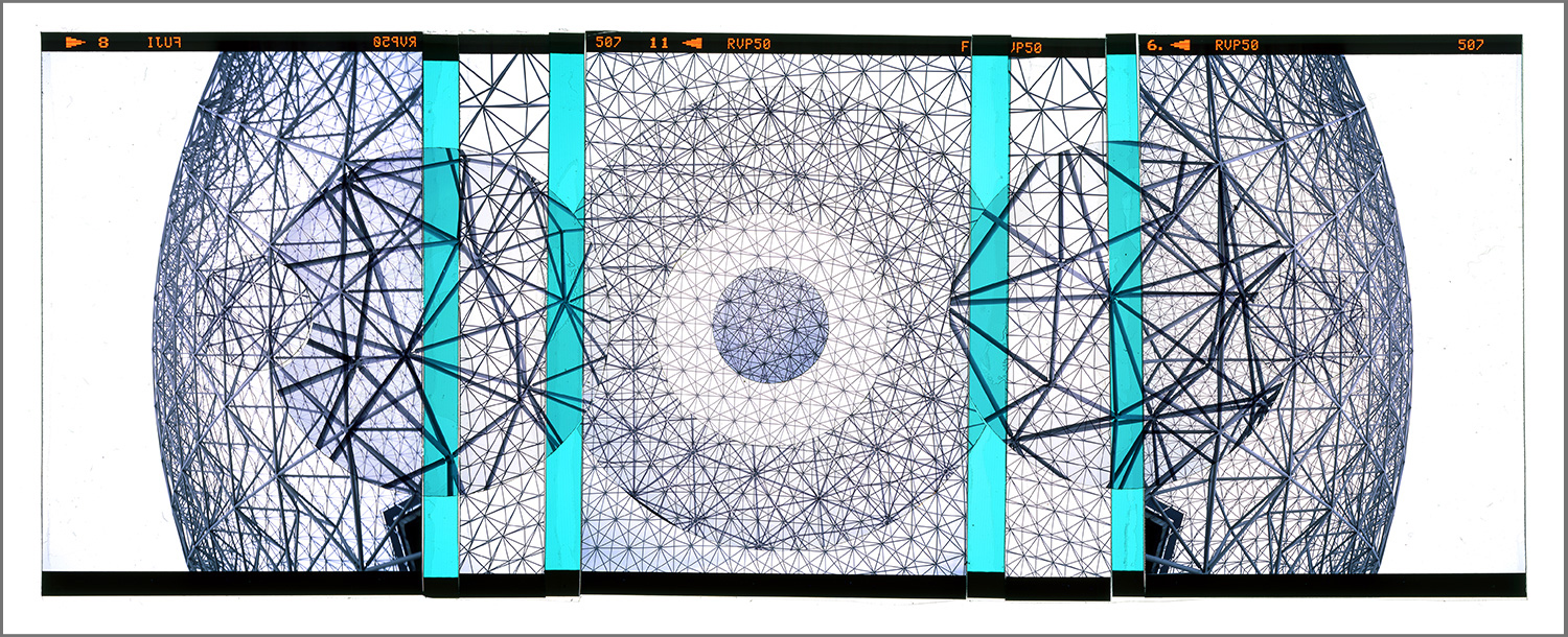 "MONTREAL RETROFUTURISM 3 [MURAL STUDY],   TRANSPARENCY FILM PRINT - 72""x 177"" [SIZE VARIABLE] - 2015"