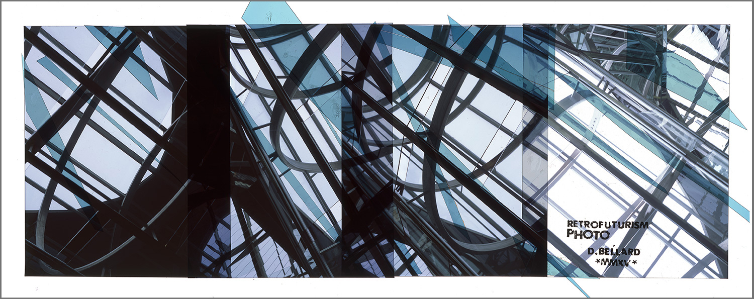 "MONTREAL RETROFUTURISM 5 [MURAL STUDY],   TRANSPARENCY FILM PRINT - 72""x 181"" [SIZE VARIABLE] - 2015"
