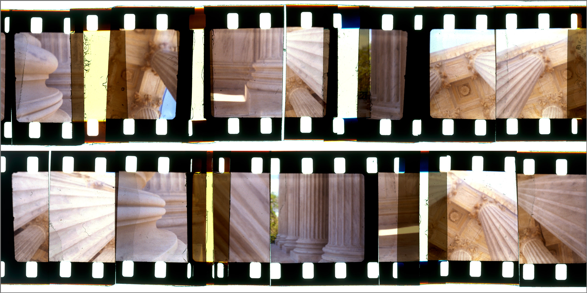 """WASHINGTON CUTUP 7,   ACRYLIC MOUNTED PRINT FROM 16MM TRANSPARENCY FILM COMPOSITION, 24"""" x 48"""", EDITION OF 5"""