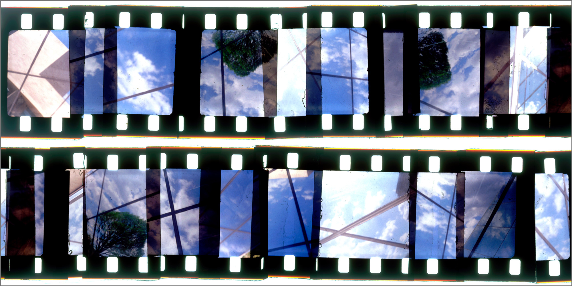 """WASHINGTON CUTUP 8,   ACRYLIC MOUNTED PRINT FROM 16MM TRANSPARENCY FILM COMPOSITION, 24"""" x 48"""", EDITION OF 5"""