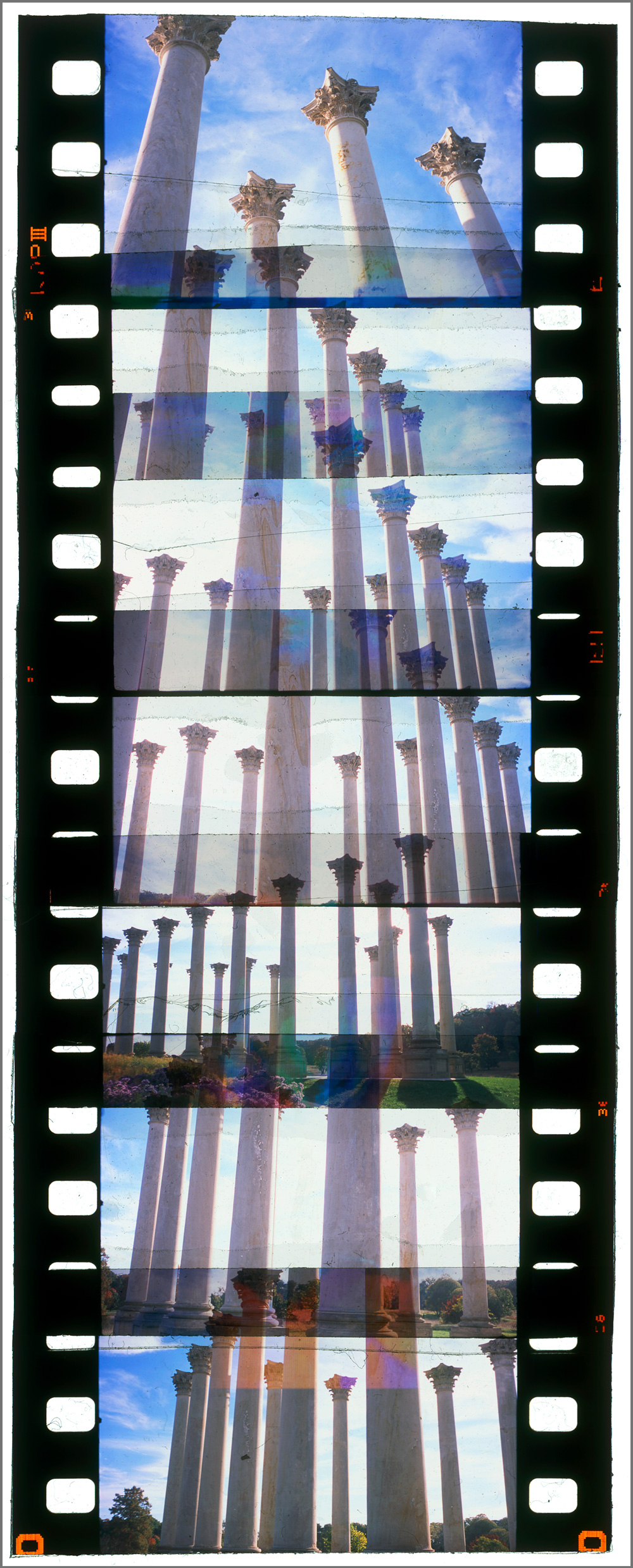 """WASHINGTON CUTUP 4,   ACRYLIC MOUNTED PRINT FROM 35MM TRANSPARENCY FILM COMPOSITION, 50"""" x 20"""", EDITION OF 5"""