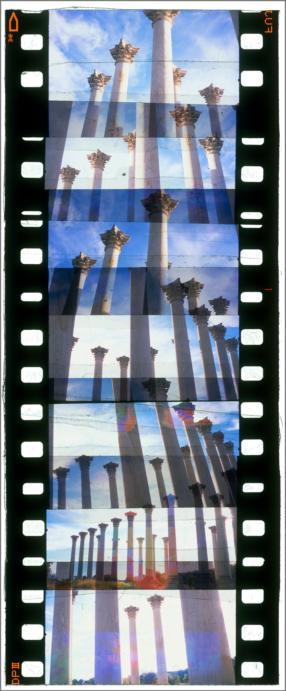 """WASHINGTON CUTUP 5,   ACRYLIC MOUNTED PRINT FROM 35MM TRANSPARENCY FILM COMPOSITION, 48"""" x 20"""", EDITION OF 5"""