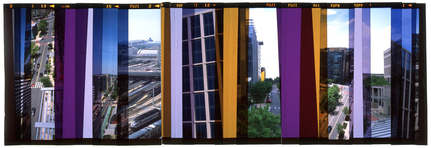 "WASHINGTON DC: CITY PORTRAIT 2,   ACRYLIC MOUNTED PRINT FROM TRANSPARENCY FILM -  24""x 66""  - 2015"