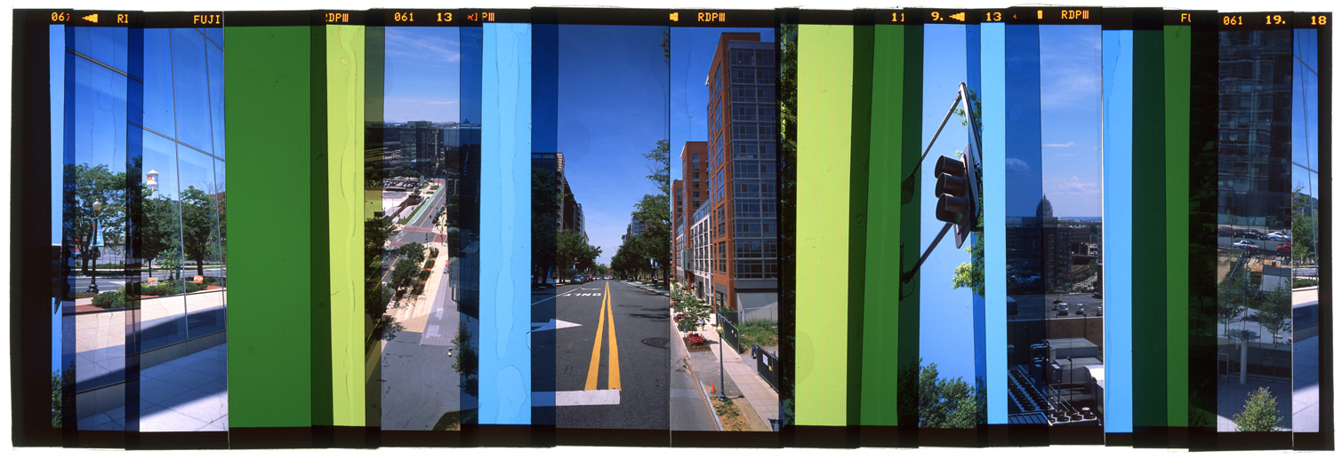 "WASHINGTON DC: CITY PORTRAIT 5,   ACRYLIC MOUNTED PRINT FROM TRANSPARENCY FILM -  24""x 66""  - 2015"