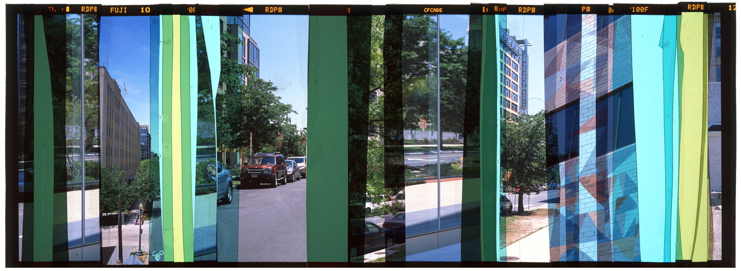 "WASHINGTON DC: CITY PORTRAIT 7,   ACRYLIC MOUNTED PRINT FROM TRANSPARENCY FILM -  24""x 63""  - 2015"