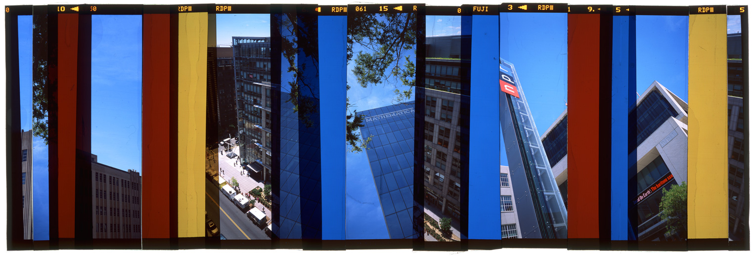 "WASHINGTON DC: CITY PORTRAIT 8,   ACRYLIC MOUNTED PRINT FROM TRANSPARENCY FILM -  24""x 68""  - 2015"