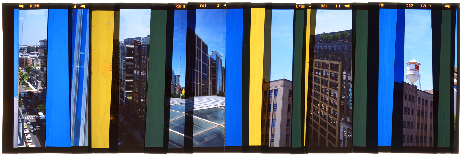 "WASHINGTON DC: CITY PORTRAIT 9,   ACRYLIC MOUNTED PRINT FROM TRANSPARENCY FILM -  24""x 70""  - 2015"