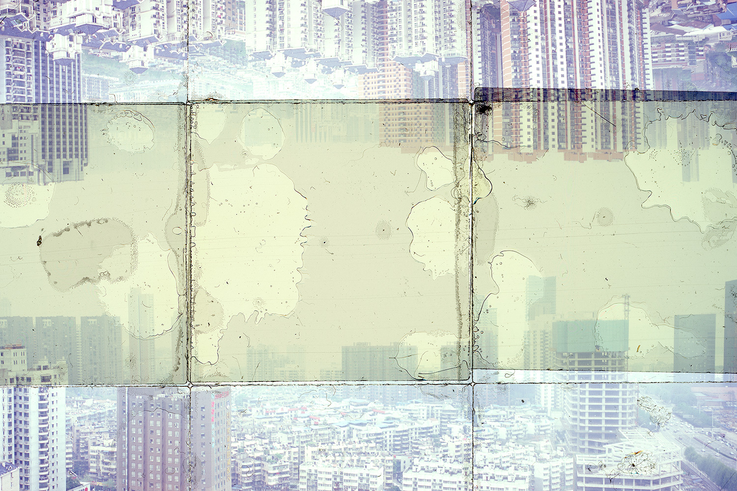 [DETAIL} WUHAN, CHINA 2  , GICLEE PRINT FROM TRANSPARENCY FILM COMPOSITION