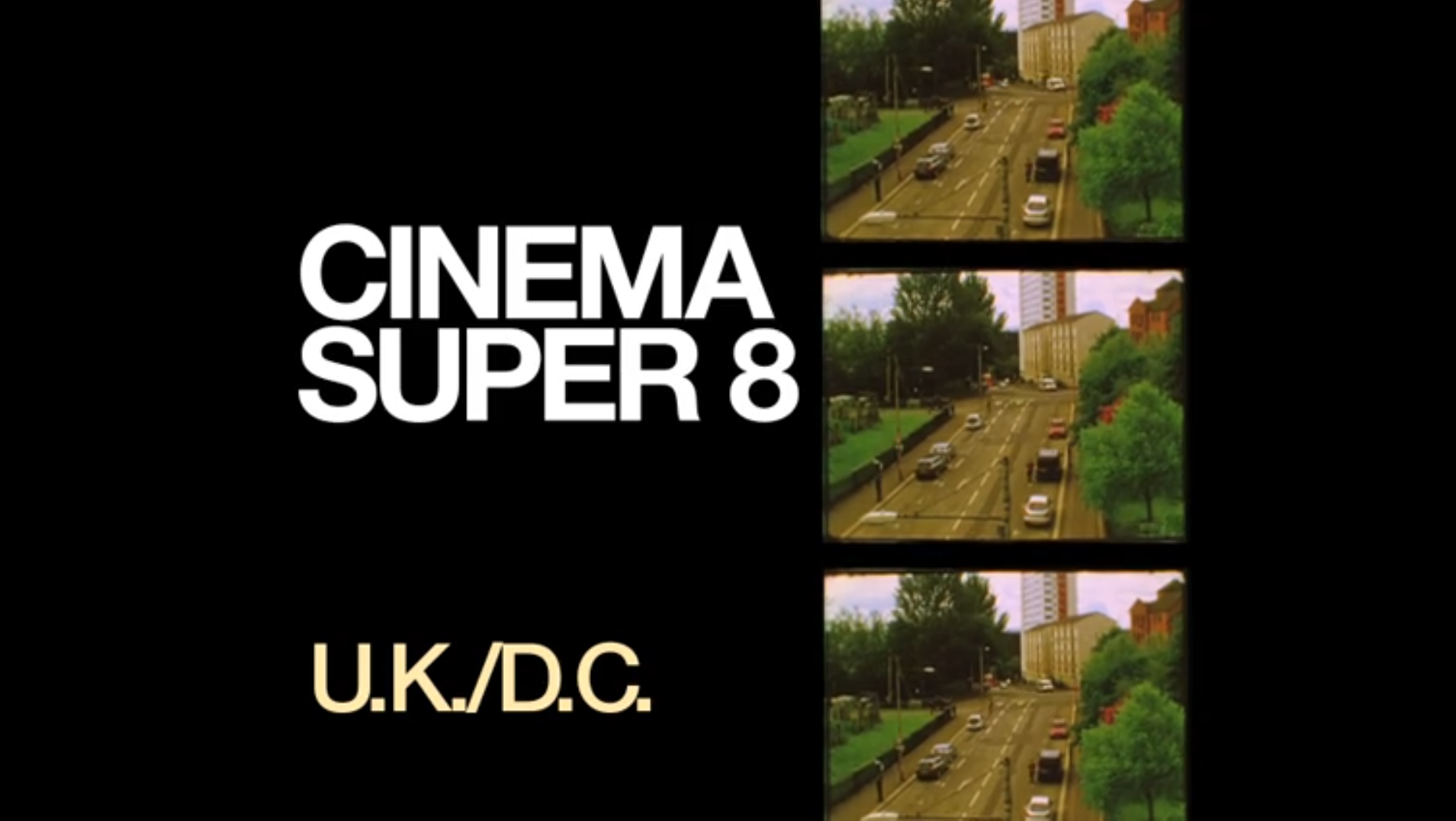 A still from the opening credits of  Cinema Super 8,  circa 2013