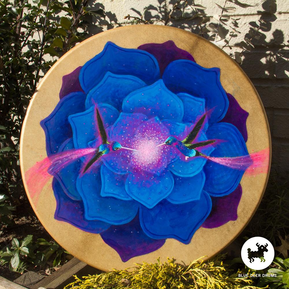 blue-deer-drums-painting-brooklyn-shamanic-sound-healing-bath-workshop-bag-ceremony-drumstick-spirit-molly-hummingbird