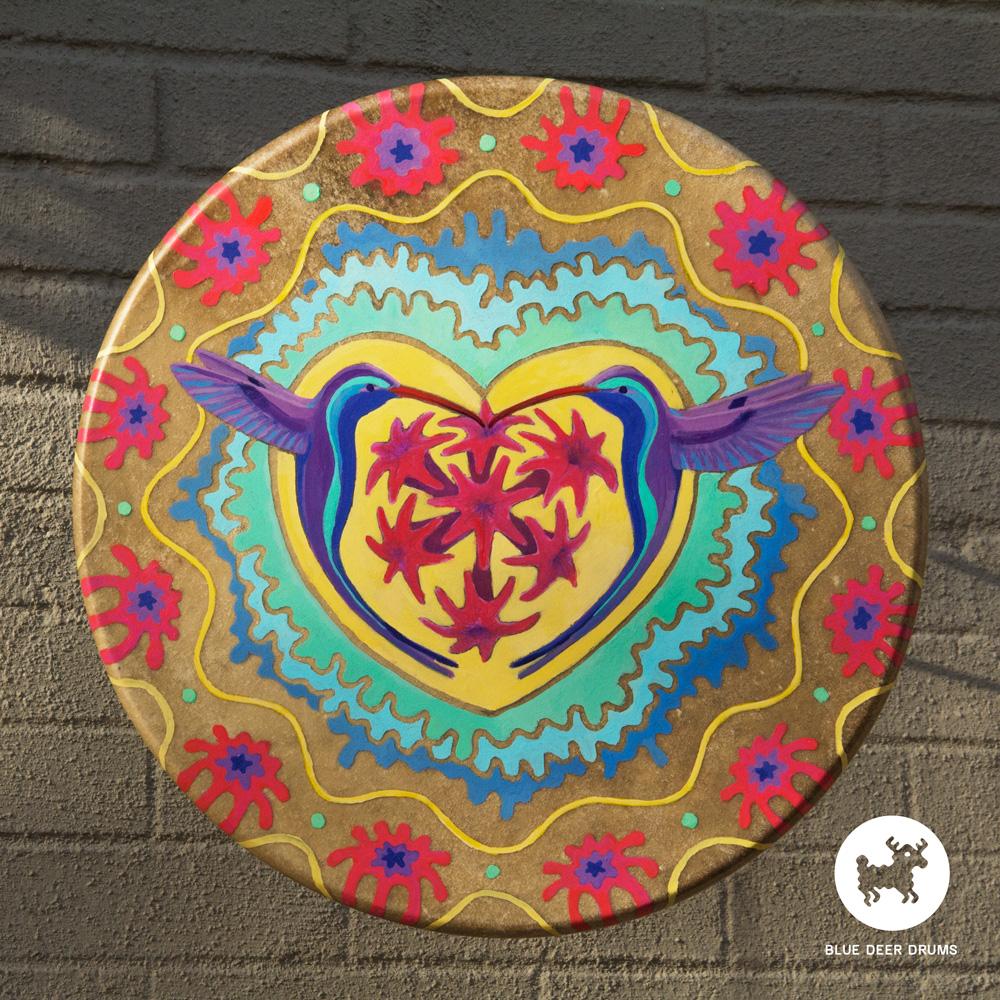 blue-deer-drums-painting-brooklyn-shamanic-sound-healing-bath-workshop-bag-ceremony-drumstick-spirit-hummingbird