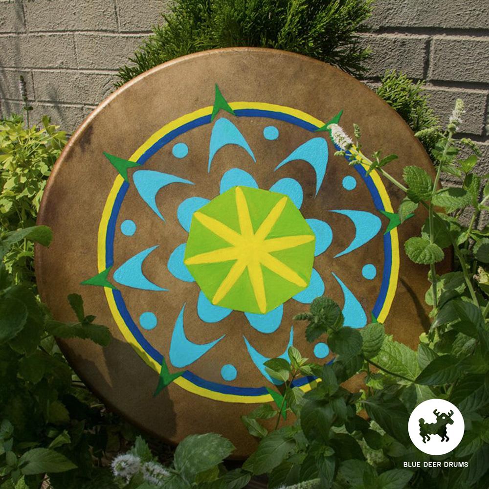 blue-deer-drums-painting-brooklyn-shamanic-sound-healing-bath-workshop-bag-ceremony-drumstick-spirit-logo-goldendrum