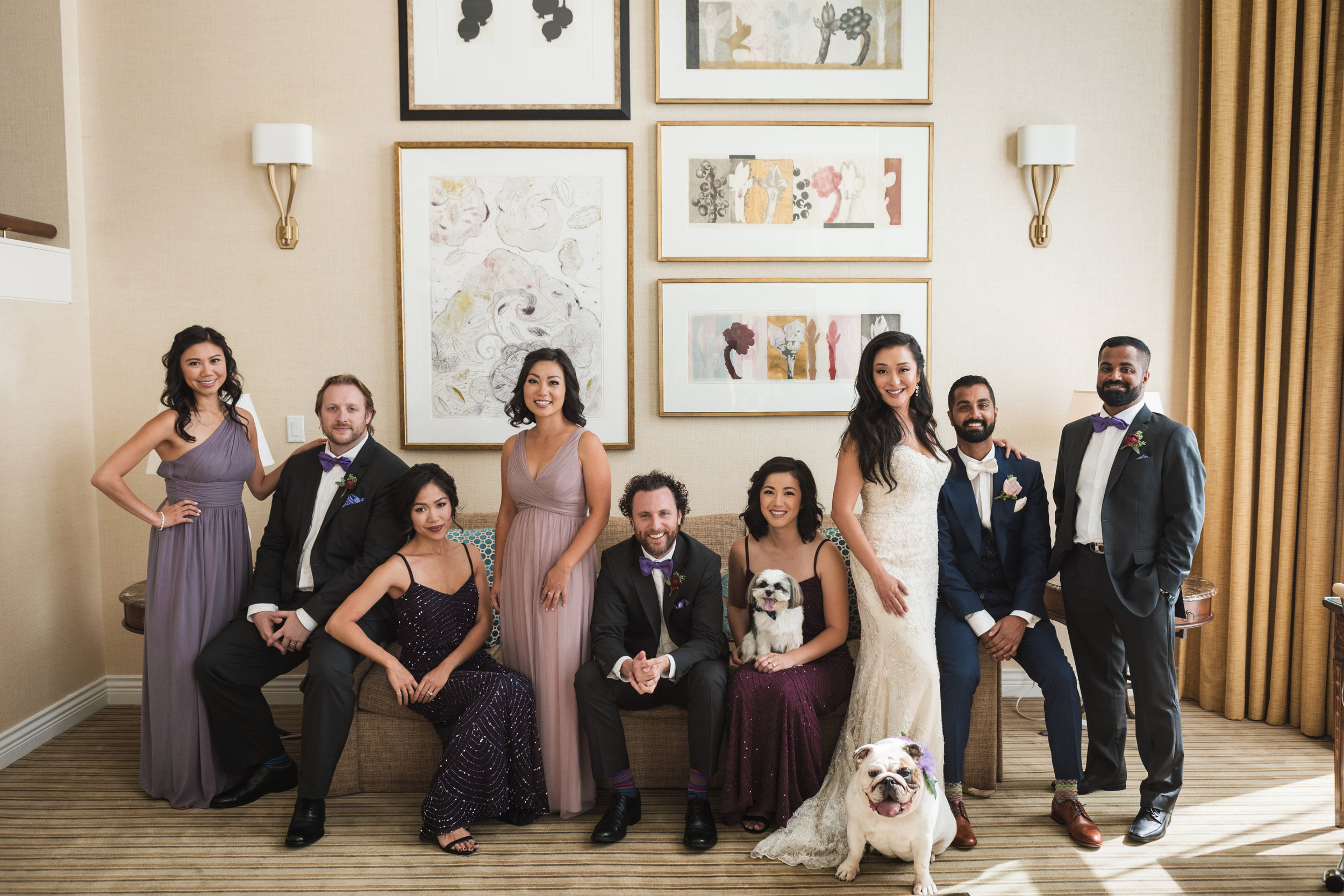 bridal-party-four-seasons-hotel-vancouver-wedding-yaletown-photography