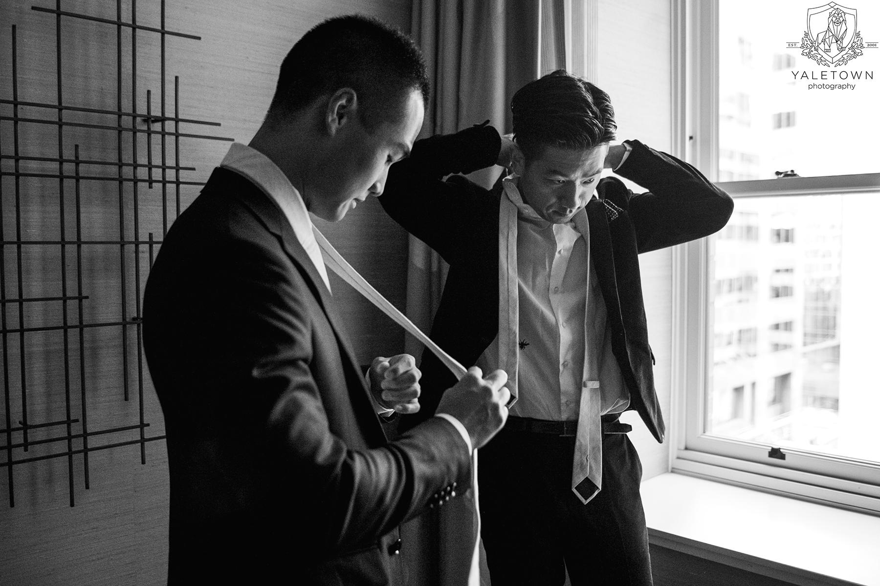 Groomsmen-Prep-Rosewood-Hotel-Georgia-Vancouver-Wedding-Yaletown-Photography-photo
