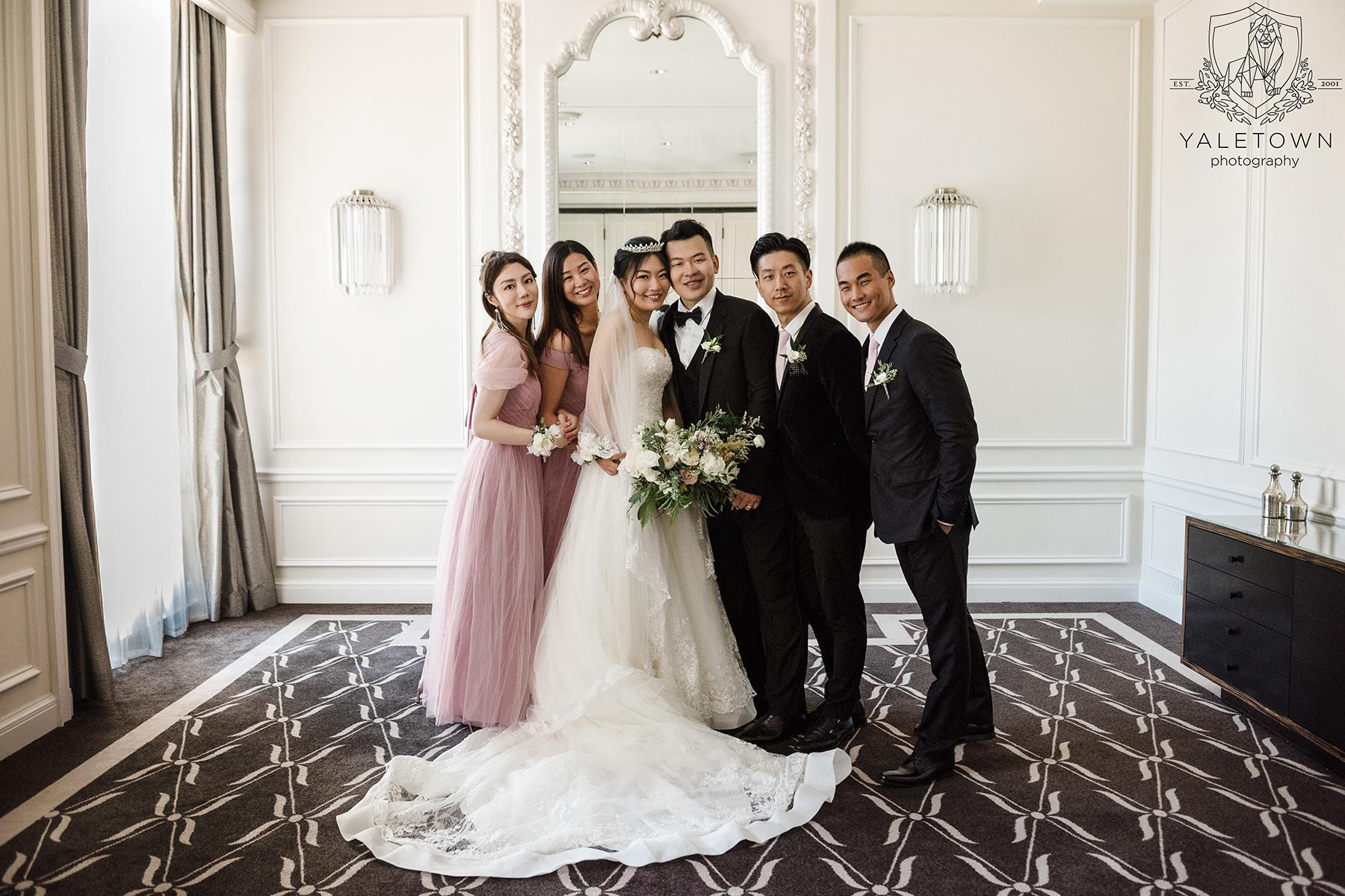 Bride-Groom-Bridesmaids-Groomsmen-PortraitsRosewood-Hotel-Georgia-Vancouver-Wedding-Yaletown-Photography-photo