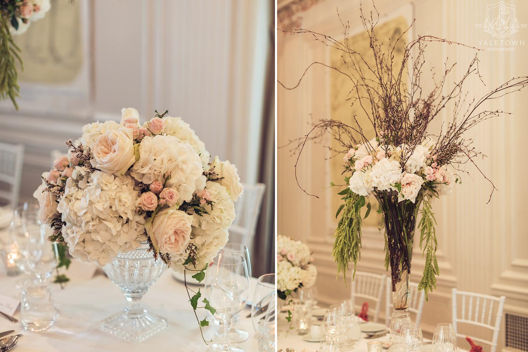 Wedding-Reception-Details-Floral-Arrangements-Rosewood-Hotel-Georgia-Vancouver-Wedding-Yaletown-Photography-photo