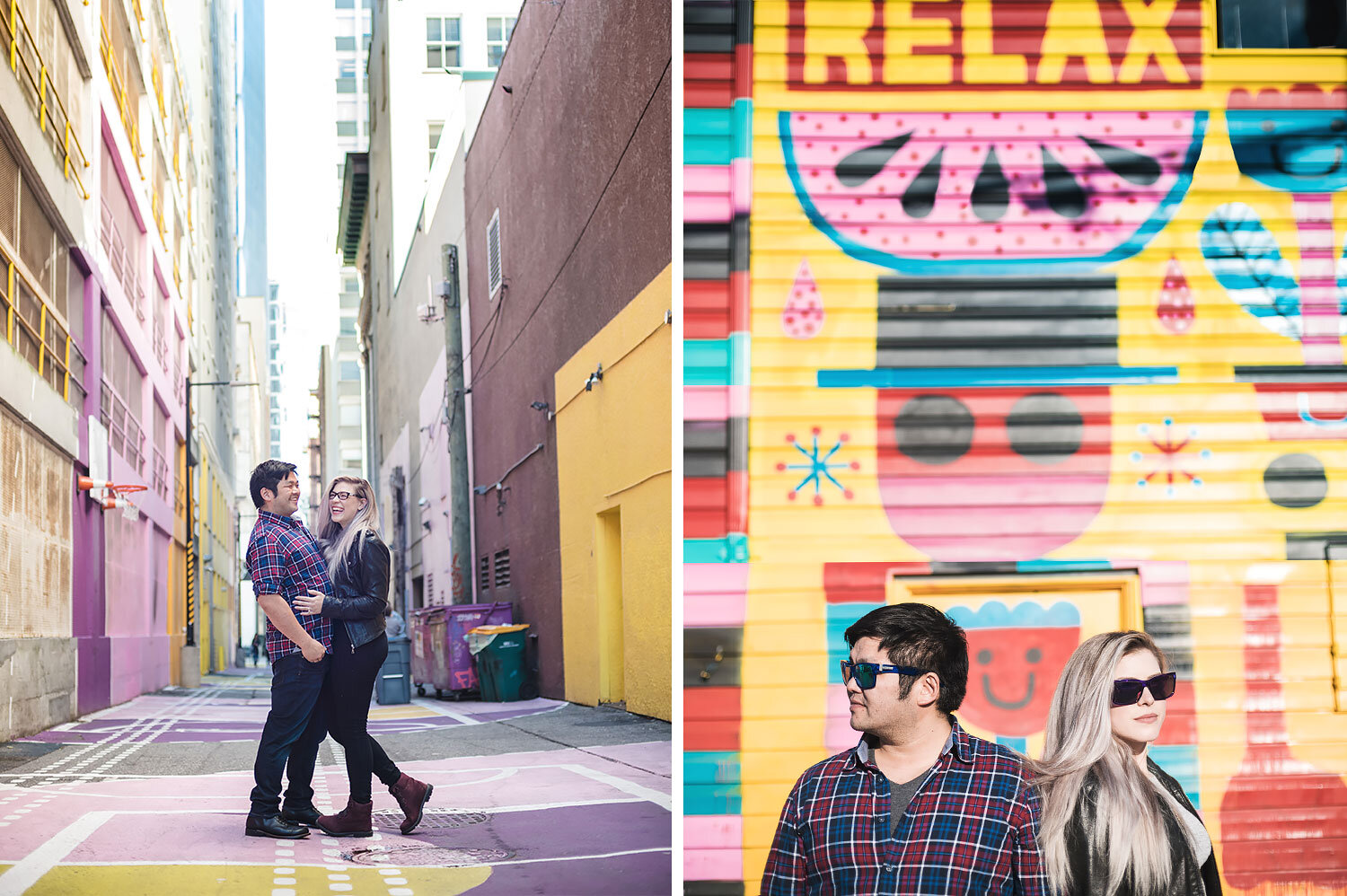 Vancouver-murals-engagement-session-yaletown-photography-photo