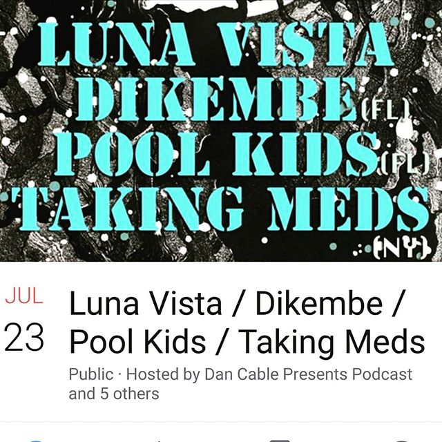 Been waiting a looooong time to see @dikembedudes happy birthday to me! Awe thanks guys 😂 . . . . #dikembe #lunavista #poolkids #takingmeds #portland #liveshow
