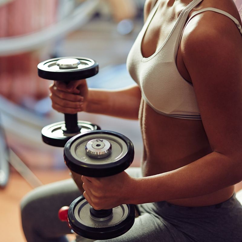 Heavier weights stress muscles for growth