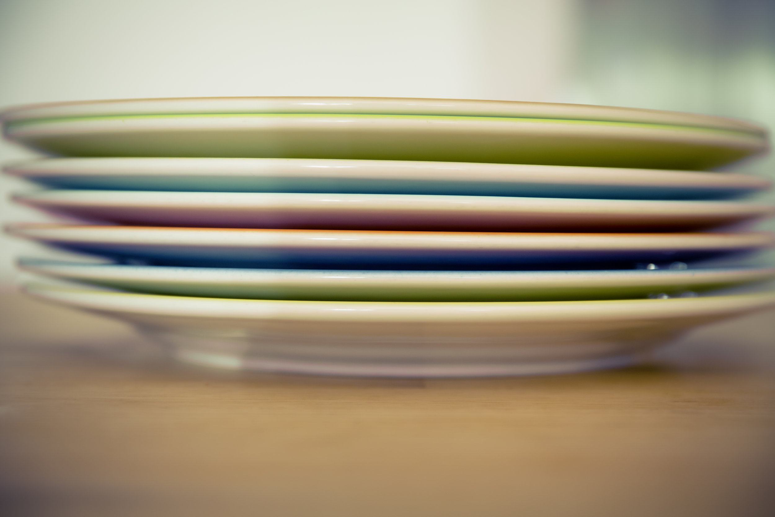 Try a smaller, bluer plate