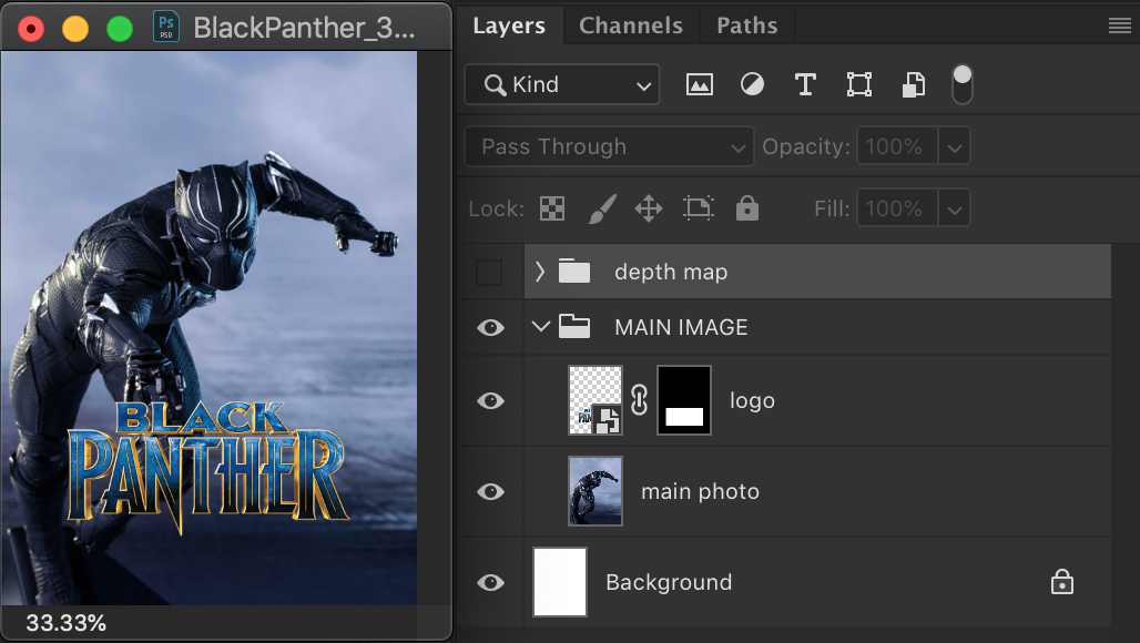 Create a Photoshop document with the settings 1125x1500.