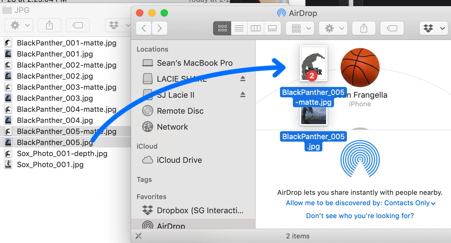 Save the files and move them to your iPhone. You can do this with air drop, dropbox, google drive, or emailing them to yourself.