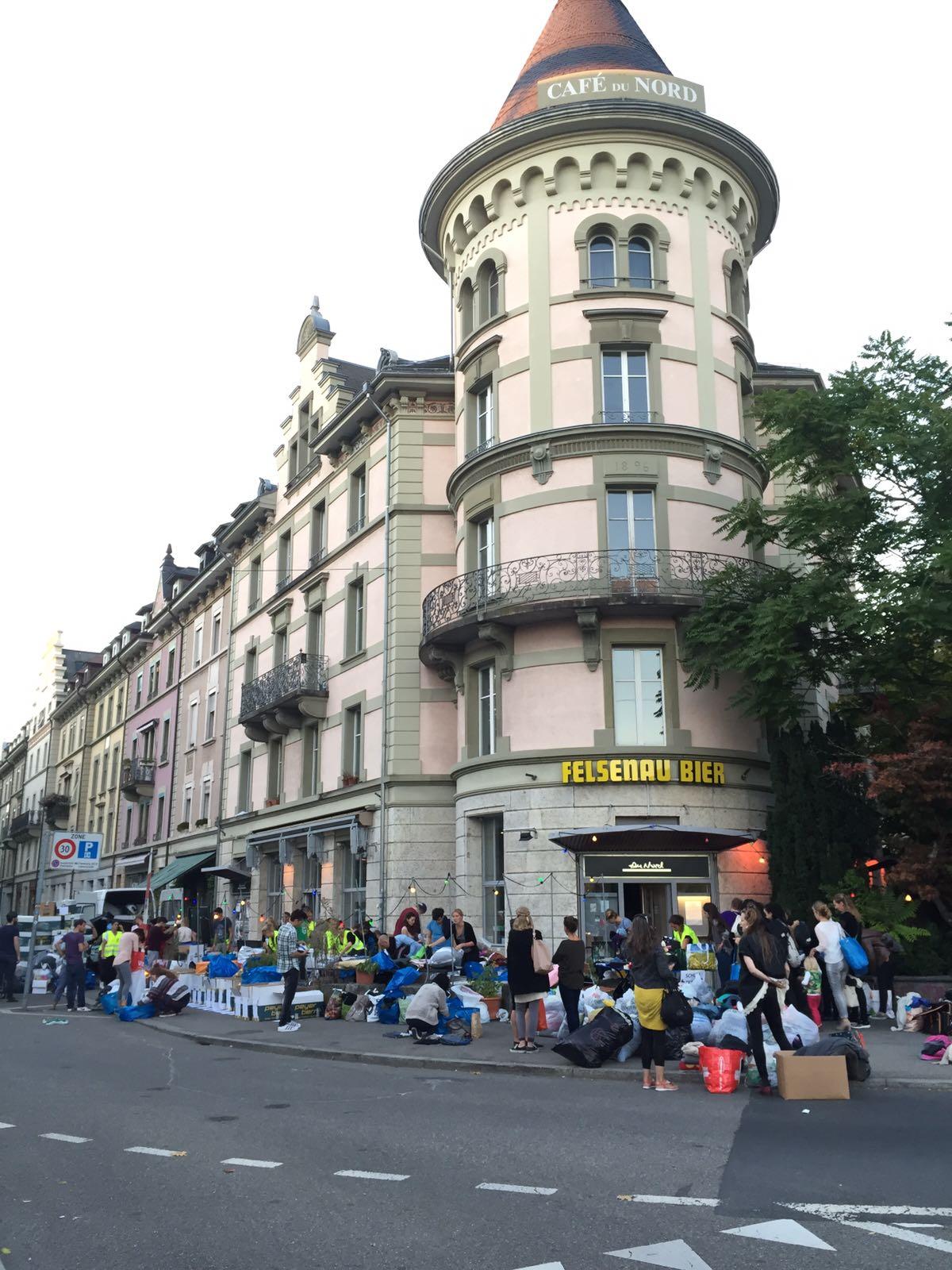Sammelaktion in Bern.