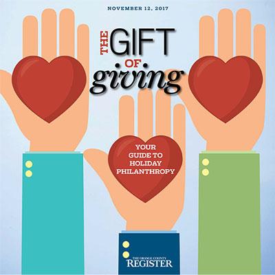 Gift of Giving   The Orange County Register  November 12, 2017