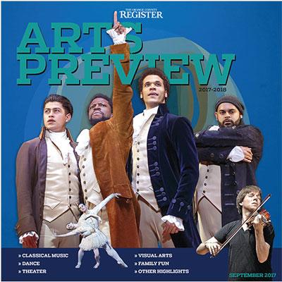 Arts Preview   The Orange County Register  September 10, 2017