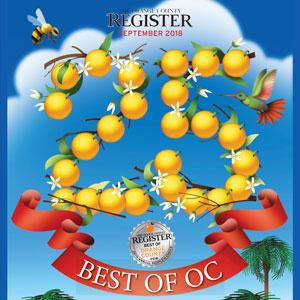 Best of Orange County   The Orange County Register September 23, 2018