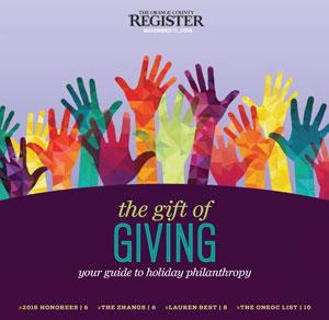The Gift of Giving   The Orange County Register November 11, 2018