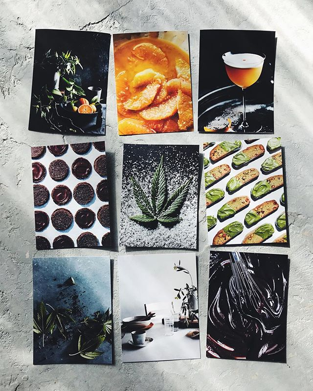 Favorite pile! Really stoked about these... Bravo team! Another beautiful issue wrapped #foodshoot #cookingwithcannabis #foodshoot food styled by @adamfoodstyle props by @genasigala 🙌🏼 thx much you all 😘  and now.. cheers to the weekend!