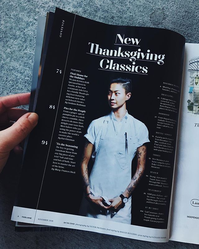 Lookin boss @kristenlkish 👌🏼 Shot #thanksgiving with Kristen and her amazing fam @arlogreyaustin for @foodandwine !!! Got to work with my sis @natashakolenko on this one (love you sis!) so it was a big family affair. Also took notes on @jordanarothman taking notes.. mad interview skills .. like whoa. 😘 #dreamjob #austin #chefportrait #kristenkish food styling by @gatton_michelle